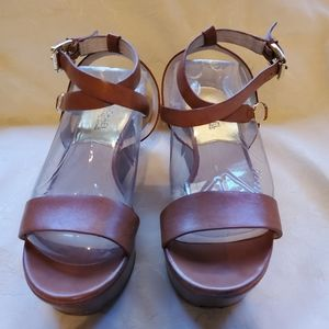 Michael Kors Wedge Sandal with Ankle Straps
